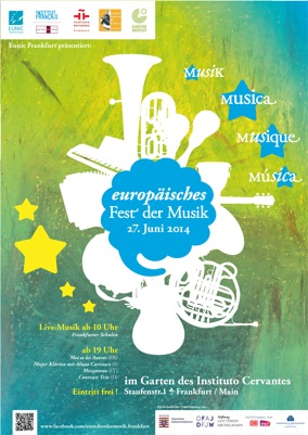 Plakat Europäisches Fest der Musik